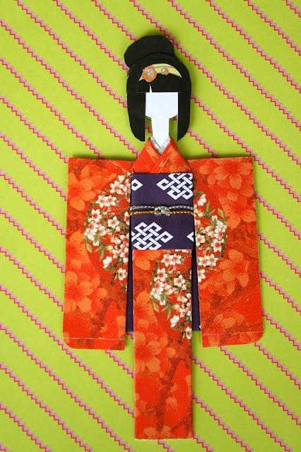 Mikano Yuri: Sakura in Red Cherry Blossom Kimono