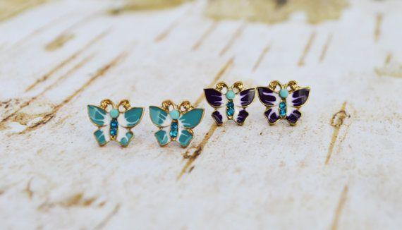 SALE Petite Butterfly Earrings Dainty Butterfly Stud