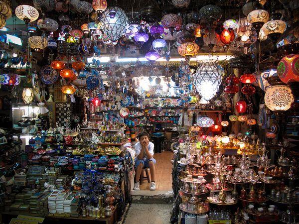 a bazaar in Istanbul
