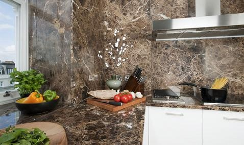 Granite work tops at the 130 Queen's Gate Apartments are situated in South Kensington