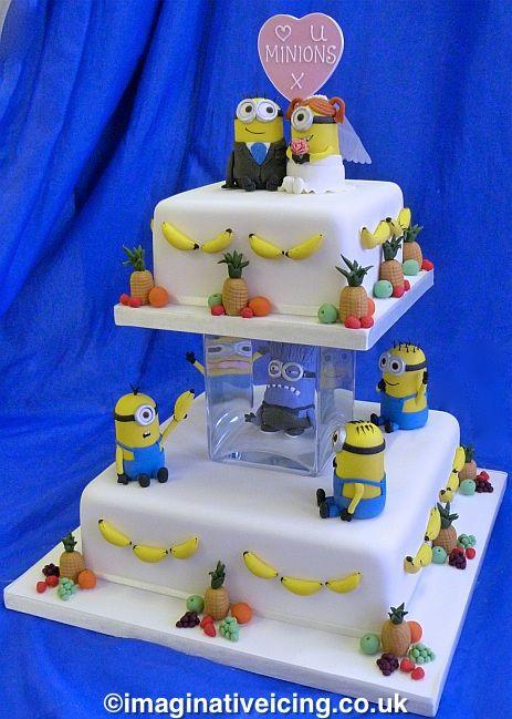 minion+wedding | Minions Wedding Cake | Imaginative Icing