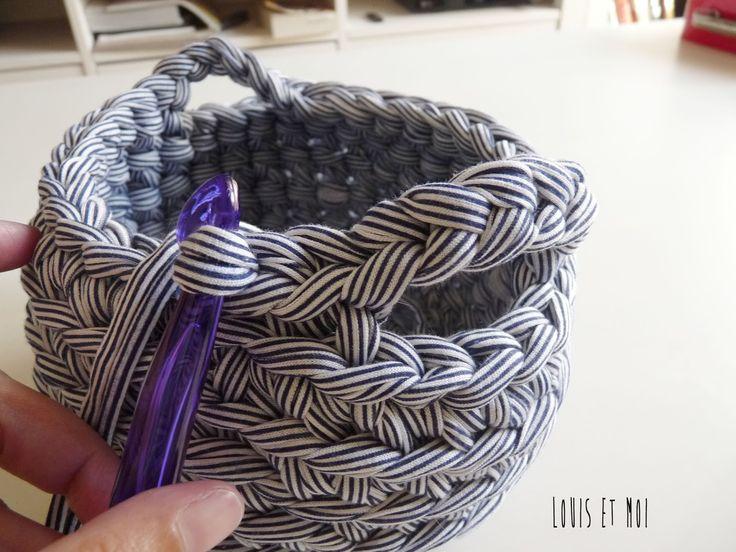 Louis et Moi (cosen y hacen crochet): Patrón de cestita en ganchillo XXL