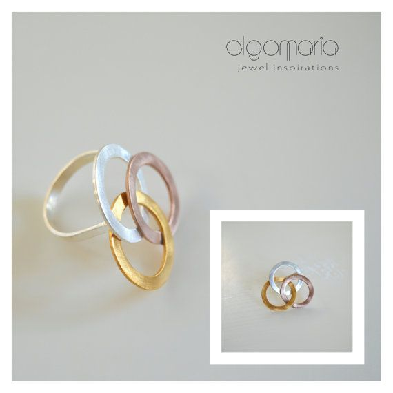 Statement Ring Gold Silver925 Rose Gold Ring by JewelInspirations