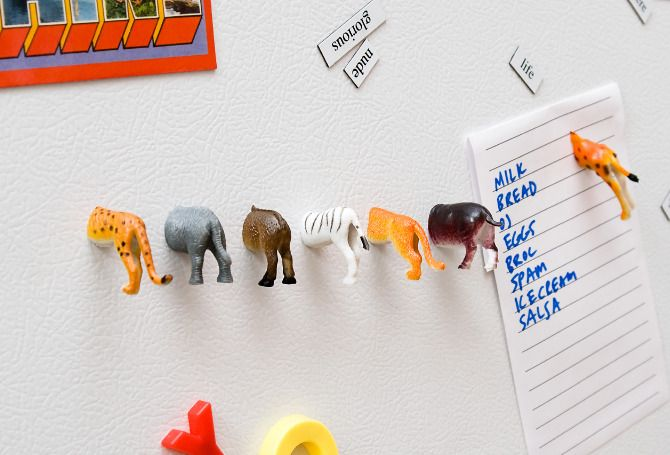 Fun ideas for all those little plastic animals that your kids used to play with…