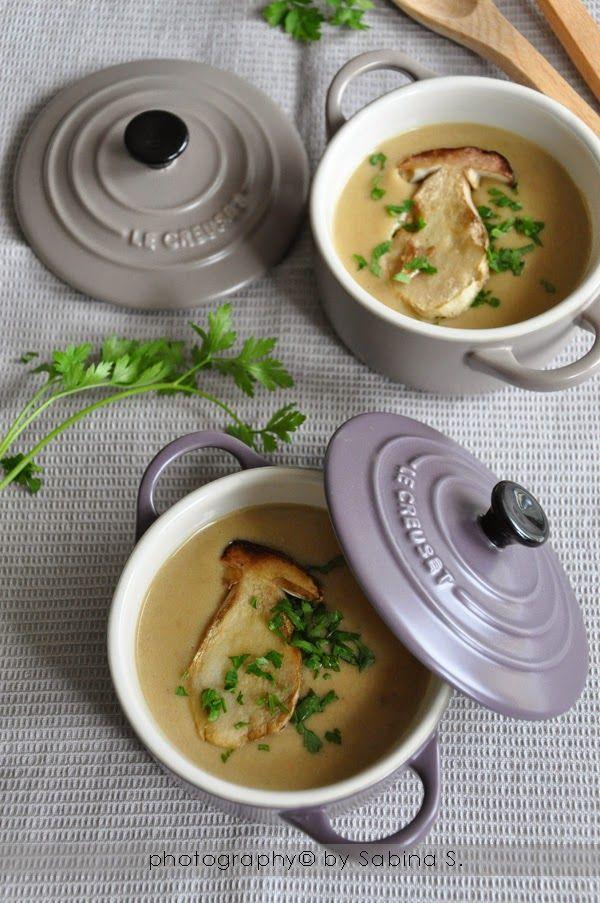 Due bionde in cucina: Vellutata con funghi porcini e patate