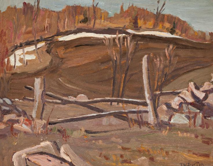 Ralph Wallace Burton - The Log Gate 10.5 x 13.5 Oil on panel