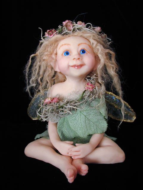 Polymer clay Art Doll ~ Kathy Davis Very pretty!