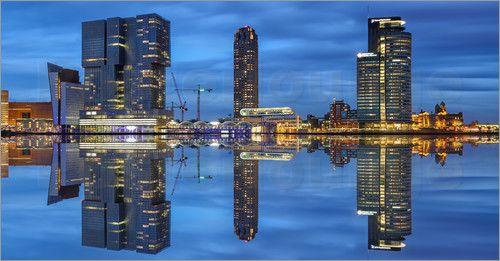 Sabine Wagner - Rotterdam Hafen Skyline