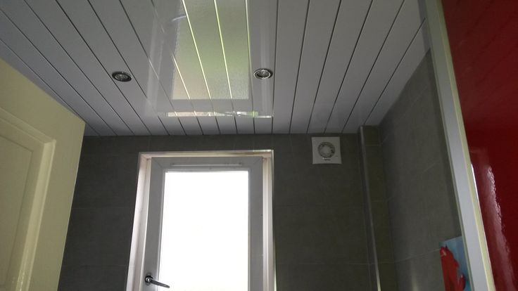 white ceiling with chrome strip, ideal for setting out new chrome  LED down lights in bathroom