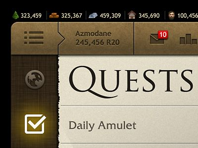 Quest ui game