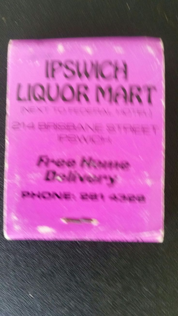 Ipswich Liquor Mart. matchbook