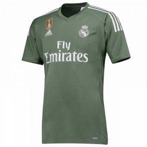 Real Madrid Brankářské Domácí Dres 17-18 Krátký Rukáv