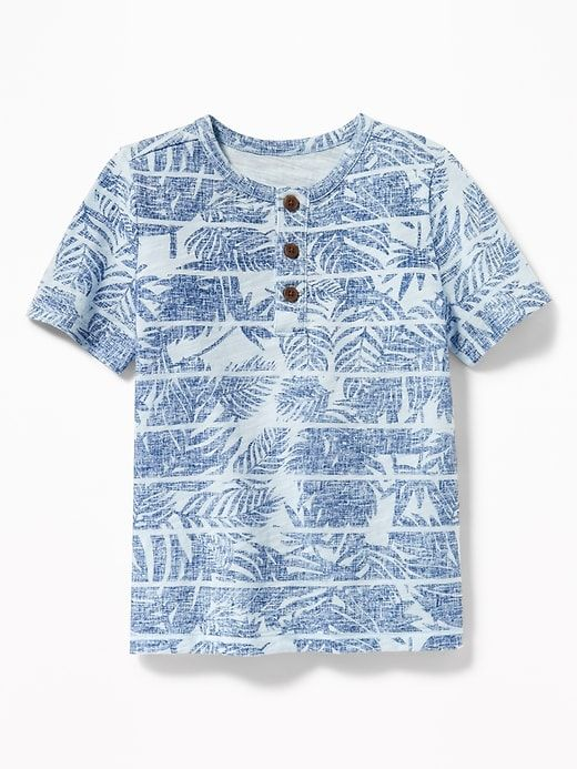 1e324566d Slub-Knit Tropical-Print Henley for Toddler Boys | spring 2019 boys ...
