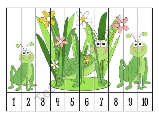 Teachers Notebook Spring Number Order puzzles free