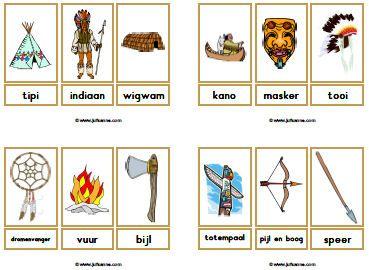 Indianen woordkaarten » Juf Sanne