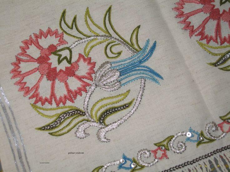 I'm doing handmade embroidery