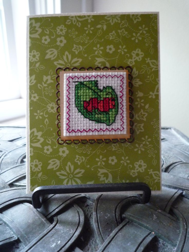 I'm A Little Bugged, Hand Stitch Card and Magnet by HMCrafters on Etsy