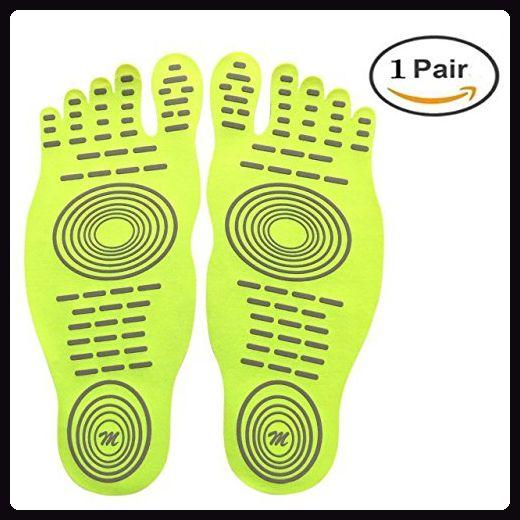 Adhesive Pad, Unsichtbare Schuhe für Wasser, Barfuß Schuhe, Nakefit Stick auf Fuß Sohlen mit Anti-Rutsch-und wasserdichtes Design für Barfuß Liebhaber, Sommer Aktivitäten - Sportschuhe für frauen (*Partner-Link)
