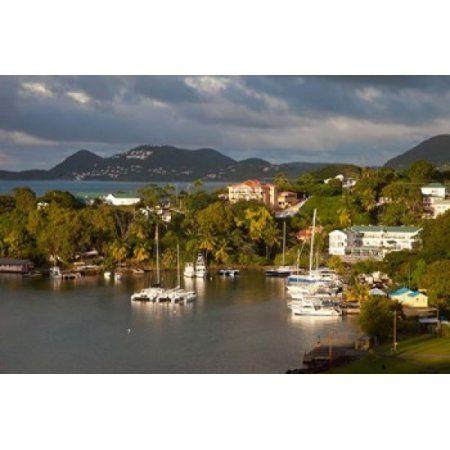 Boats Castries St Lucia West Indies Caribbean Canvas Art - Brian Jannsen DanitaDelimont (28 x 19)