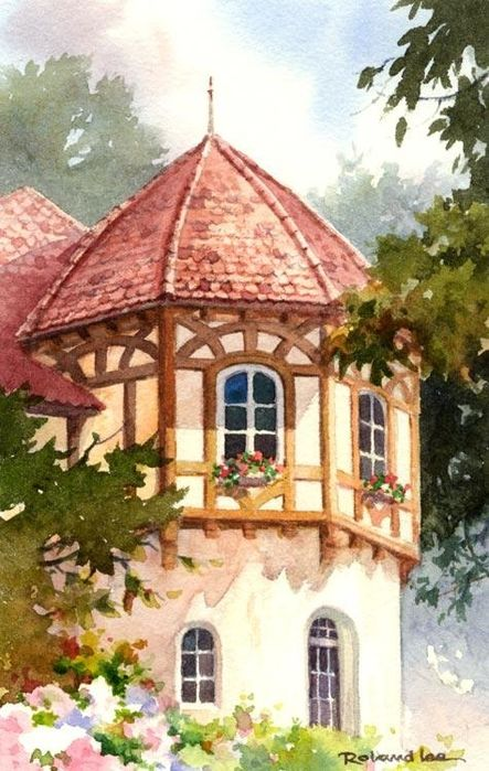 309 Best Images About Art English Cottages Gardens On