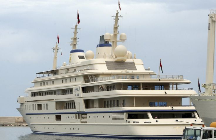 $300 MILLION: The Al Said yacht is owned by the Sultan of Oman. It is 509-feet long, making it one of the biggest megayachts on this list. There's not much information about the Al Said's different amenities. It does, however, have a concert hall that can fit a 50-piece orchestra.