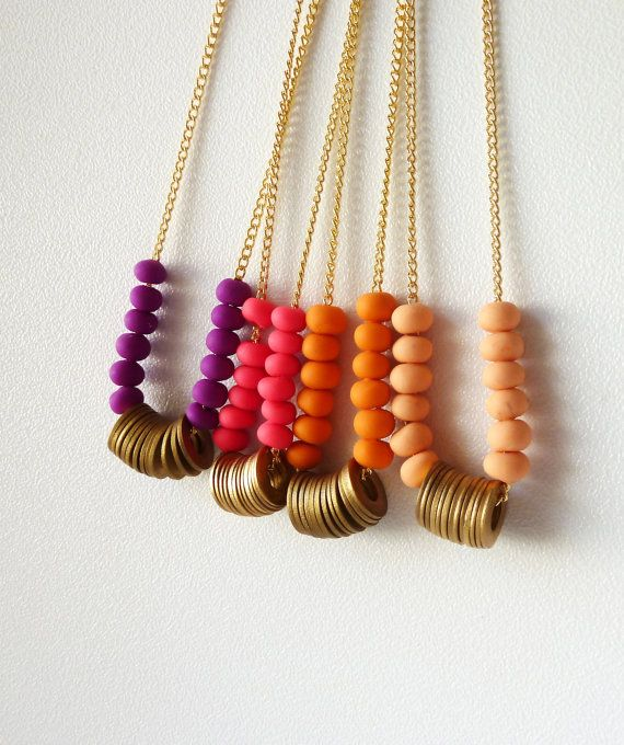 colorful necklaces #jewelry #etsy