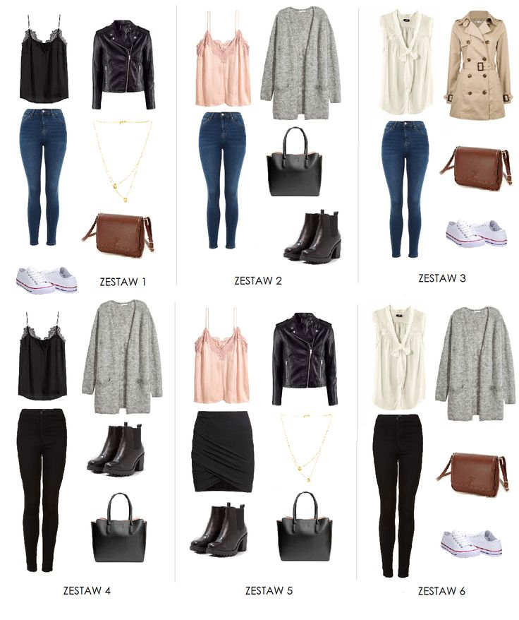 6 pomysłów na zestawy. Capsule Wardrobe made by minimalisticgirl.pl