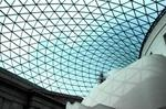 Glass and steel roof of the Great Court, British Museum, London