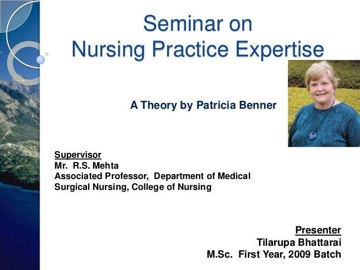 Nursing theory, expertise model