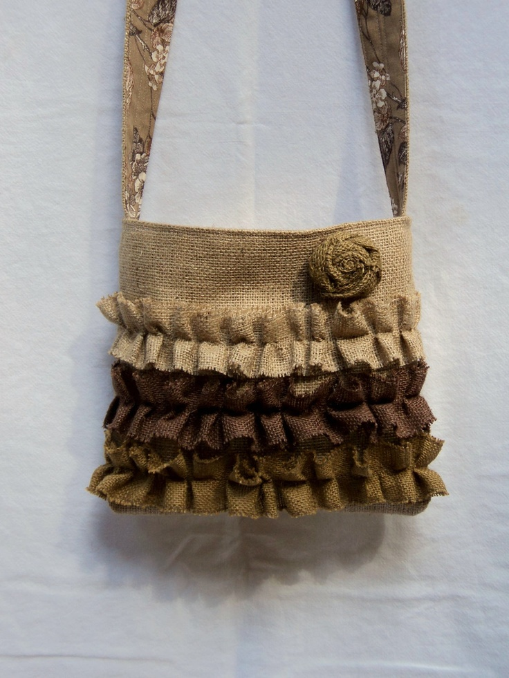 Crossbody Burlap Purse