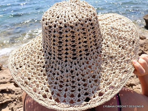 Crochet Summer Hat Pattern. Floppy Beach Hat #crochet #hat #summer