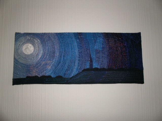 Moonlit Night Textile Art  £45.00