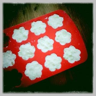 zeepjes maken in ijsblokvormpjes