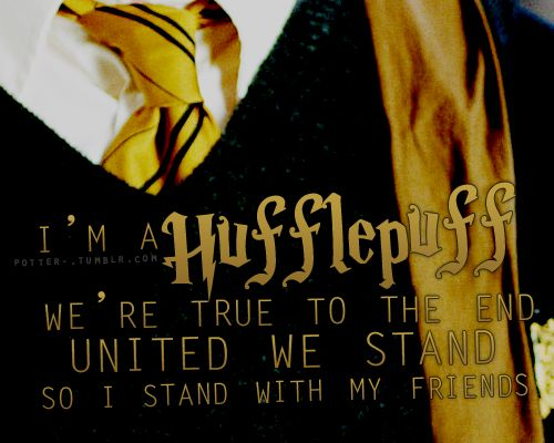 Hufflepuff, of The House Song.  Ministry of Magic is a great band... look it up!