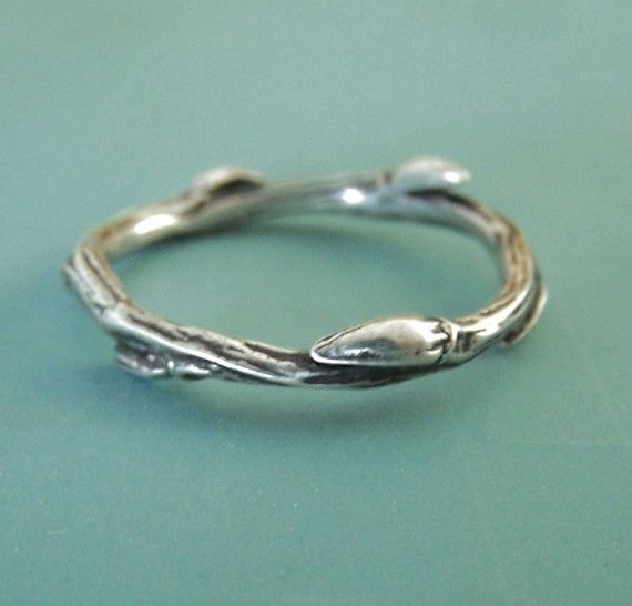 Curly Willow Branch Ring  Sterling Silver by esdesigns on Etsy, $38.00