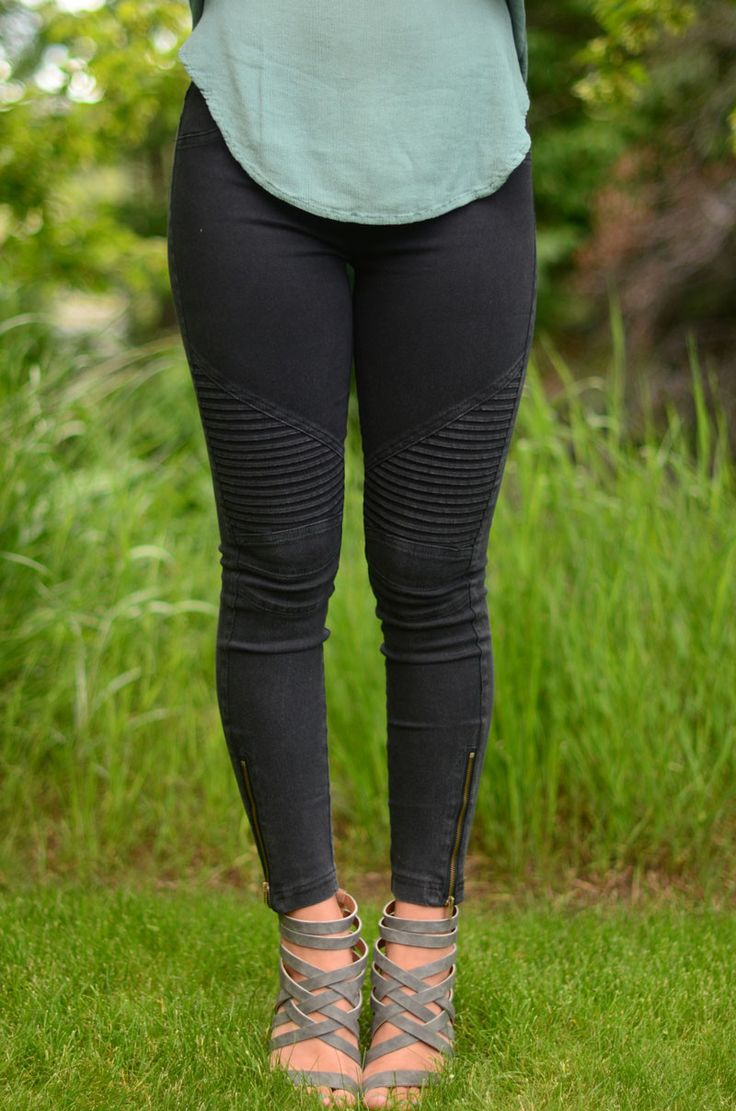 These legging pants are the best thing ever! They're stretchy and comfy as well as being in the cutest colors we've ever seen! They have fun detailing and an elastic waist band! You're going to want t