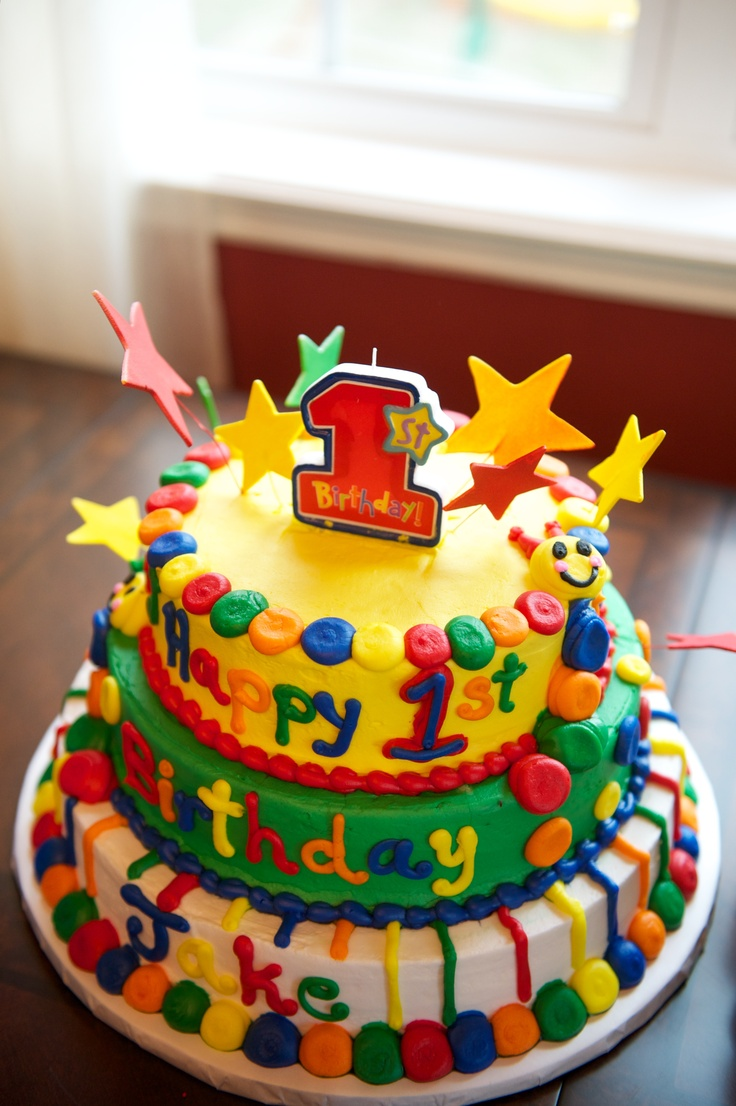 Baby einstein cake for 1st birthday baby einstein for Baby einstein decoration
