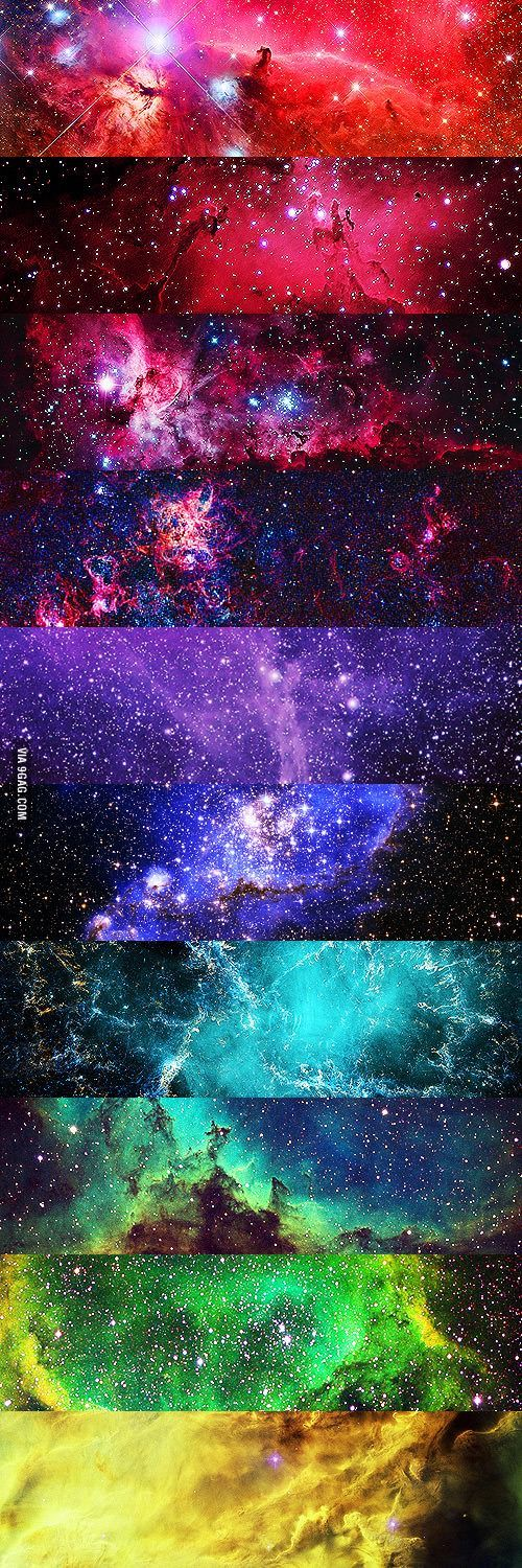 All the colors of the universe #space