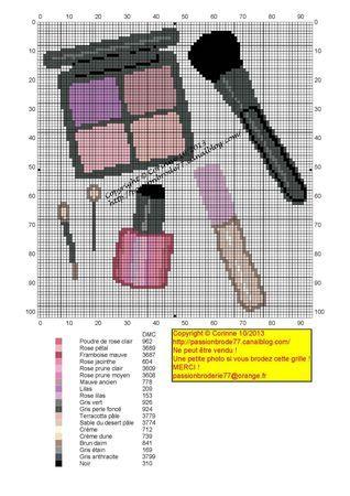 salle de bains - bathroom - maquillage - point de croix-cross stitch - broderie-embroidery- Blog : http://broderiemimie44.canalblog.com/