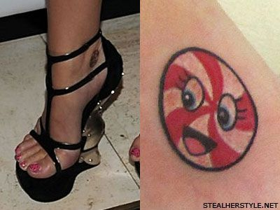 Katy Perry peppermint tattoo