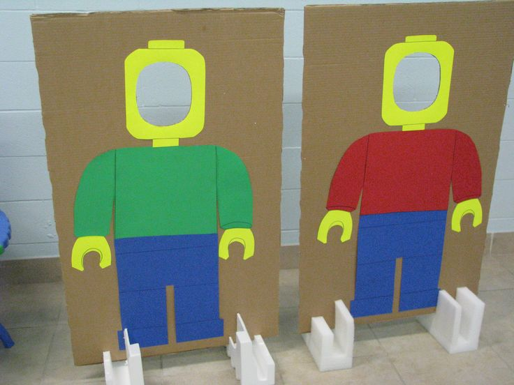 Lego man cut-outs - fun photo ops for my son's birthday party!