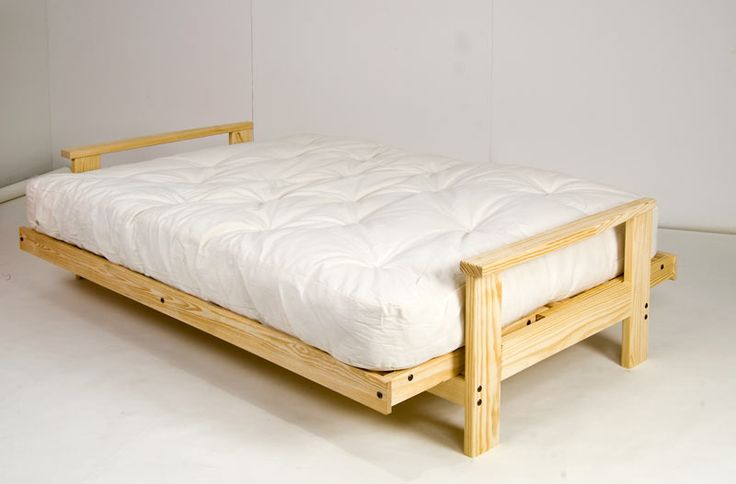 Adorable queen size futon mattress white with wooden frame