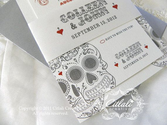 Day Of The Dead Wedding Invitations: 1000+ Images About Wedding Invitations On Pinterest