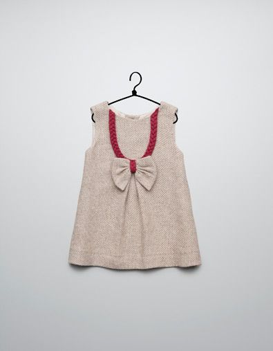 dress with braid and bow - Dresses - Baby girl (3-36 months) - Kids - ZARA United States