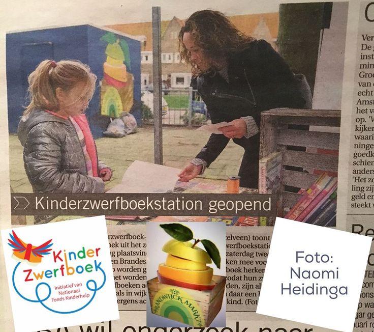 Dichtbij Amstelveen plaatste een item in de krant op woensdag 14 januari 2016 naar aanleiding van de opening door wethouders van het Kinderzwerfboek-station Randwijck Markt