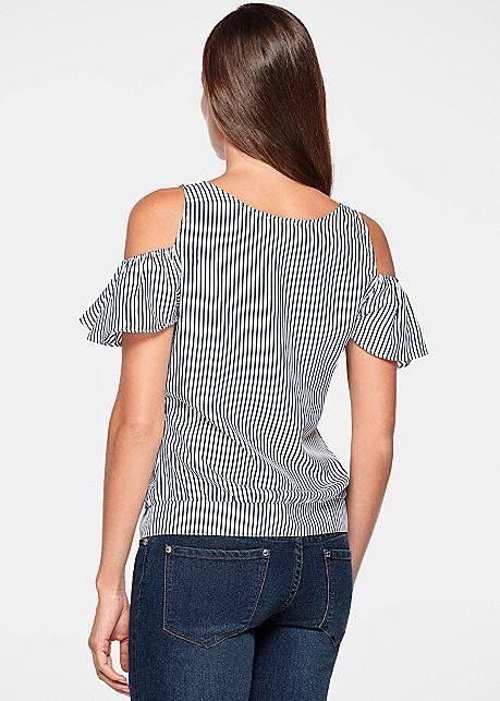 Blusa espalda de raya con botonera