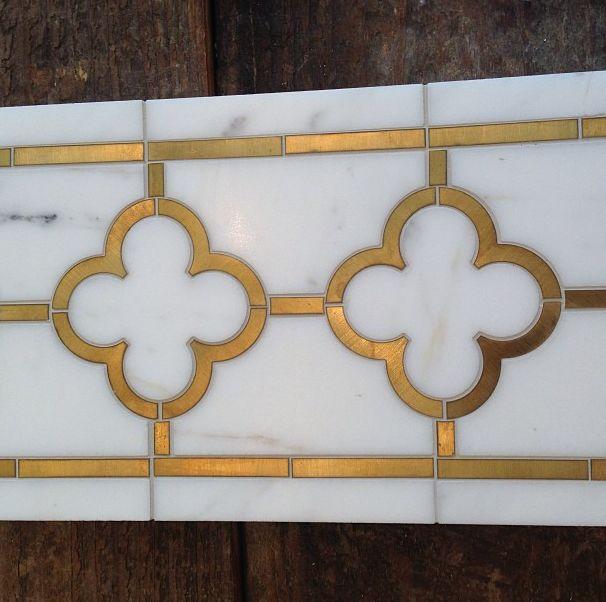brass inlay tile