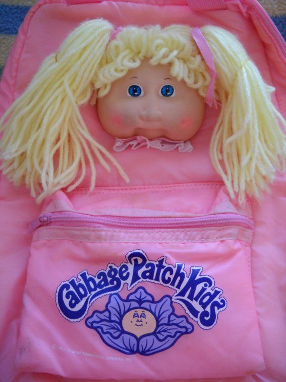 Cabbage Patch Kid backpack. I had this exact same backpack as a child...WOW. Lol