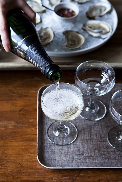 Kicking back in style with oysters & champagne. #style #winetime #oysters