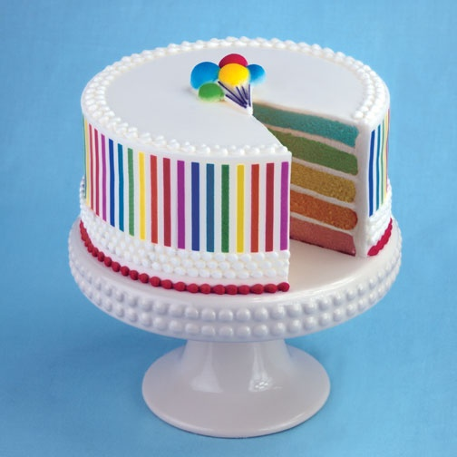 Rainbow Cake From Lucks Food Decorating Company   Cake Decorations And Cake  Decorating Ideas